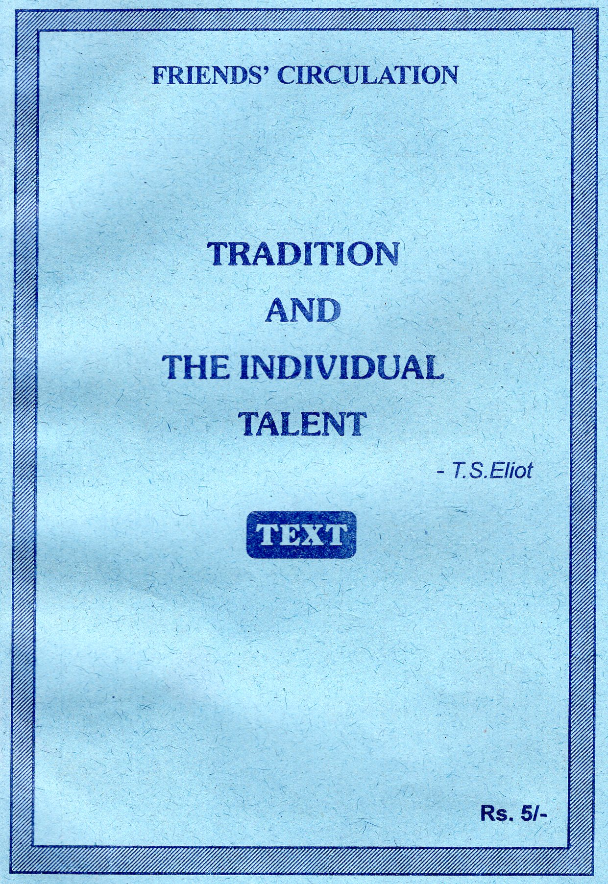 ts eliot tradition and the individual talent summary
